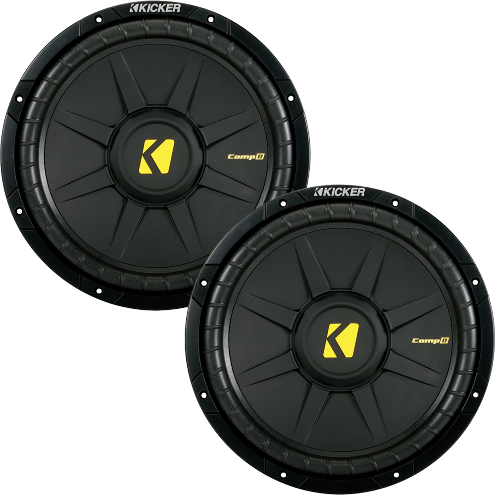 Kicker CompD 12 4 Ohm Subwoofer 40CWD124 Bundle