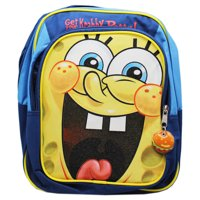 d8a0b92a91 Spongebob Squarepants Super Excited Face Blue Small Size Kids Backpack (12in )