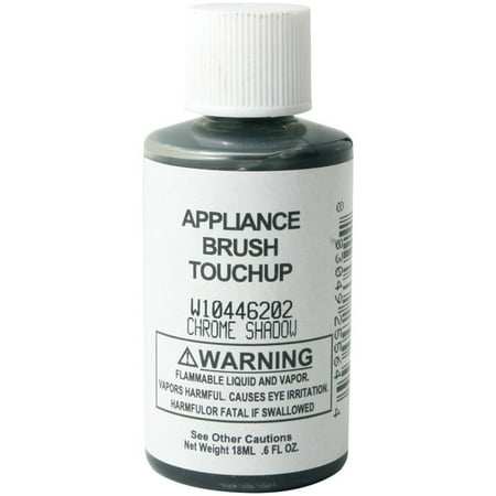 W10446202 Appliance Brush-on Touch-up Paint (chrome Shadow) W10446202 Appliance Brush-on Touch-up Paint (chrome Shadow):6 FL oz bottleChrome shadowGreat for all your needsGenuine Whirlpool part. Whirlpool brands include Whirlpool, Maytag, KitchenAid, Jenn-Air, Amana, Magic Chef, Admiral, Norge, Roper, and others.
