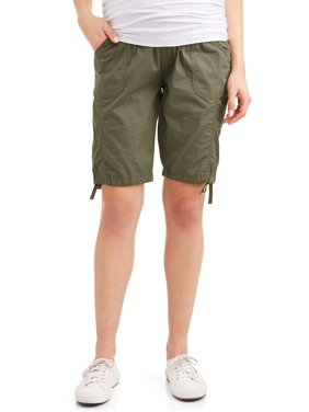 Oh! Mamma Maternity Underbelly Poplin Bermuda Shorts - Available in Plus Sizes