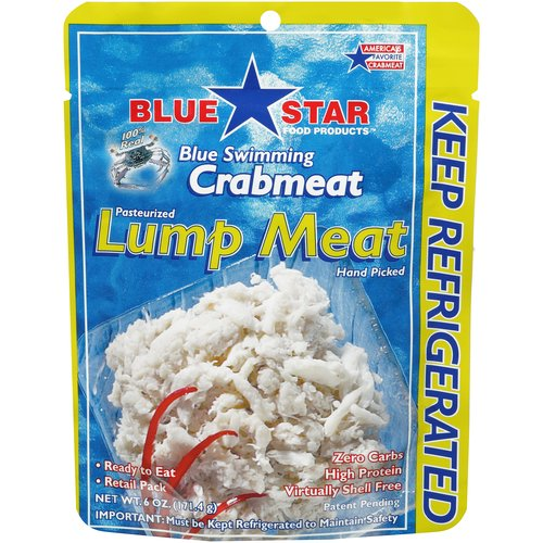 Blue Star Blue Swimming Crabmeat Lump Meat, 6 oz