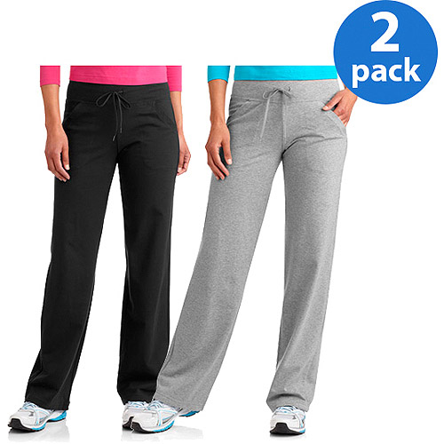 Danskin Now Women's Dri More Relaxed Pants available in regular and petite, 2-Pack