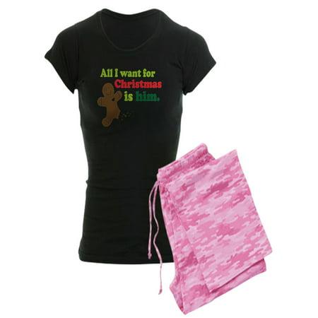 08ebcb3f862 CafePress - CafePress - Couples Funny Christmas - Women s Dark Pajamas -  Walmart.com