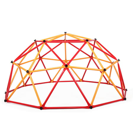 Jaxpety Dome Climber Steel Climbing Frame Monkey Dome Climber Bars Playset Ages 3-10 Kid Children Playground Jungle Gym