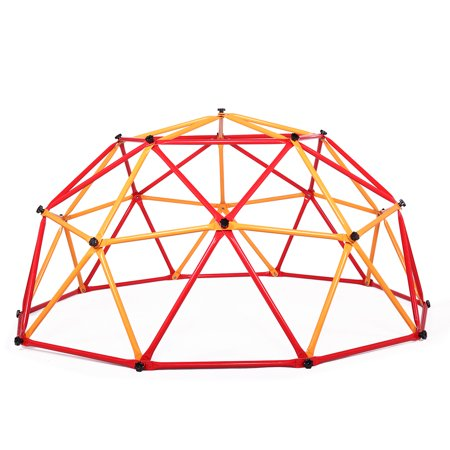 Childrens Climbing Frames - Jaxpety Dome Climber Steel Climbing Frame Monkey Dome Climber Bars Playset Ages 3-10 Kid Children Playground Jungle Gym