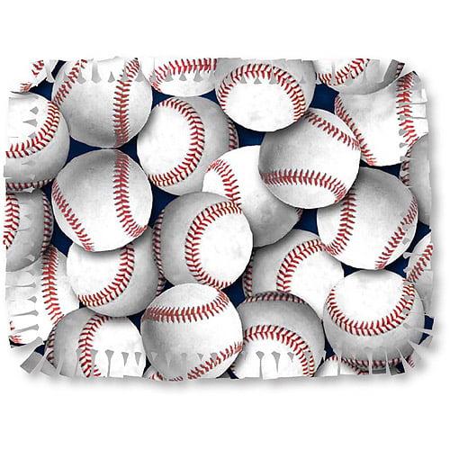Creative Cuts Microfiber No Sew Fabric Throw Kit, Baseballs