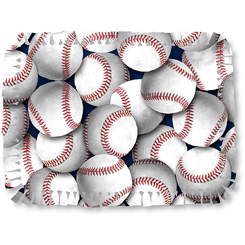 Creative Cuts Microfiber No Sew Fabric Throw Kit, Baseballs