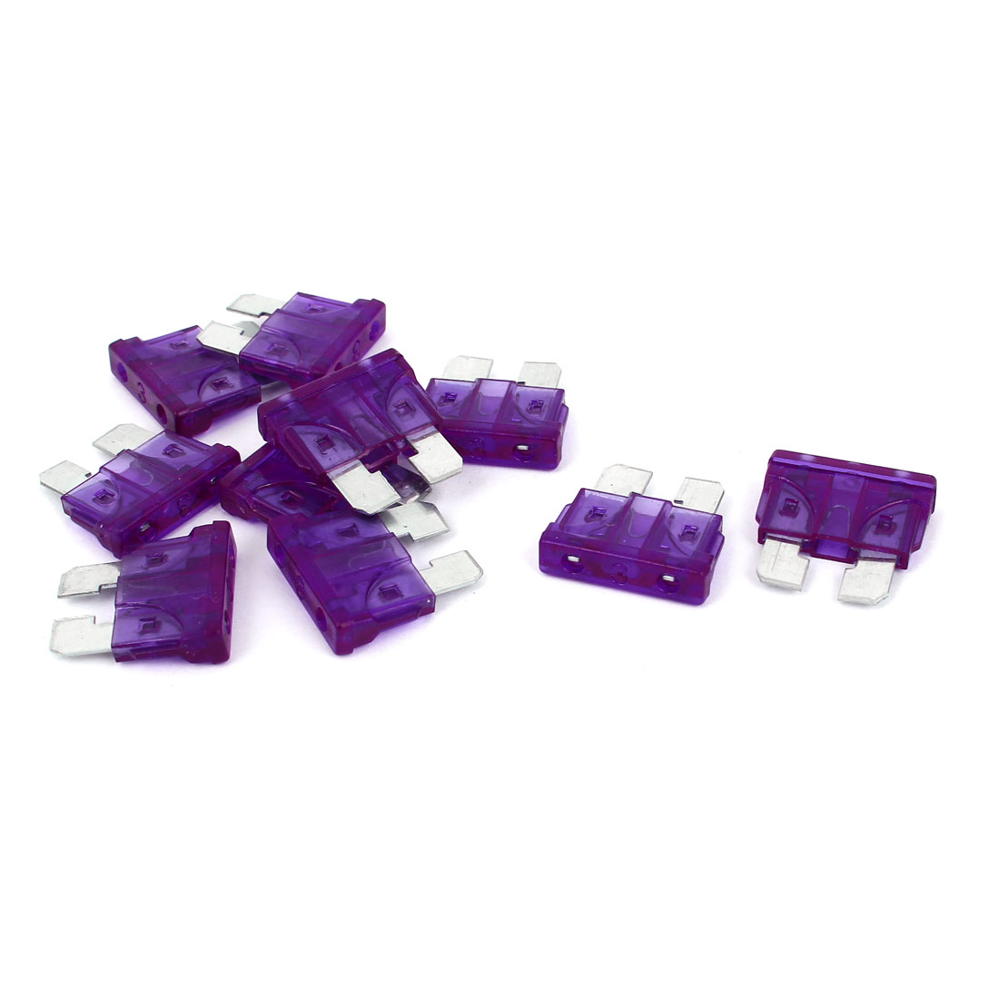 10PCS Purple Plastic Shell 3A 32V Standard ATC/ATO  Fuse for Auto Car