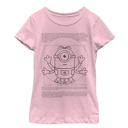 despicable me girls' minion da vinci man t-shirt