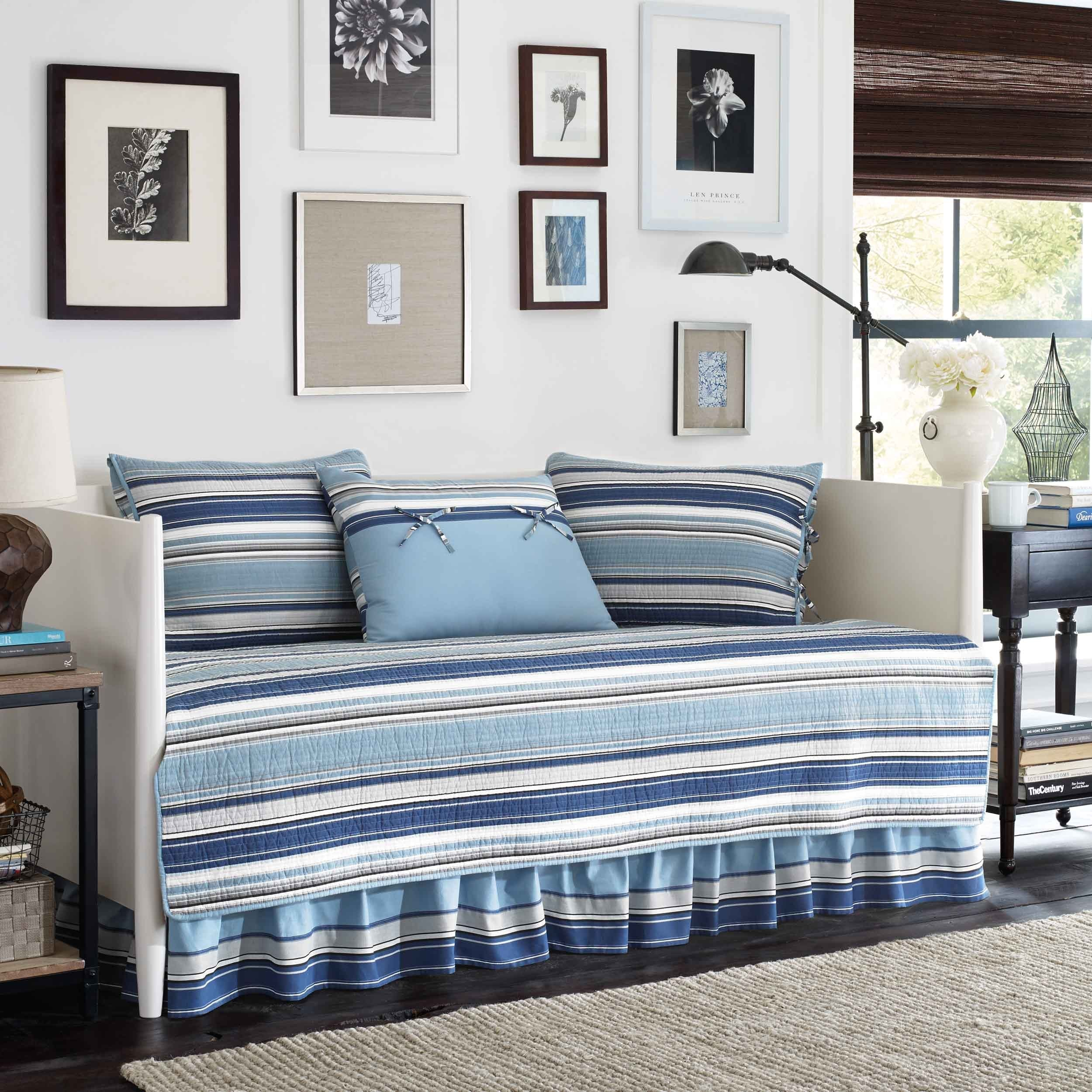 Stone Cottage Fresno 5 Piece Daybed Bedding Set Blue