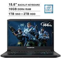 Acer 2020 Predator Helios 300 15.6 Inch FHD Gaming Laptop (9th Gen Intel 6-Core i7-9750H up to 4.5 GHz, 16GB RAM, 1TB PCIe SSD + 2TB HDD, Backlit Keyboard, GTX 1660 Ti, WiFi, Bluetooth, Win 10)