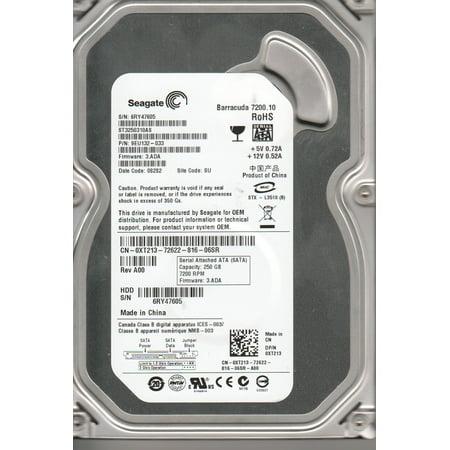 ST3250310AS, 6RY, SU, PN 9EU132-033, FW 3.ADA, Seagate 250GB SATA 3.5 Hard Drive