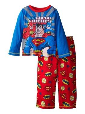 DC Comics Toddler Boys Super Friends 2 piece Pajama Set, Red, Size: 2T