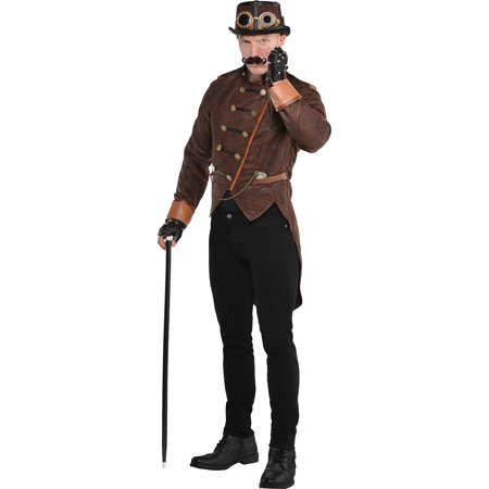 Steampunk Jacket Mens (Steampunk Mens Adult Industrial Victorian Costume)