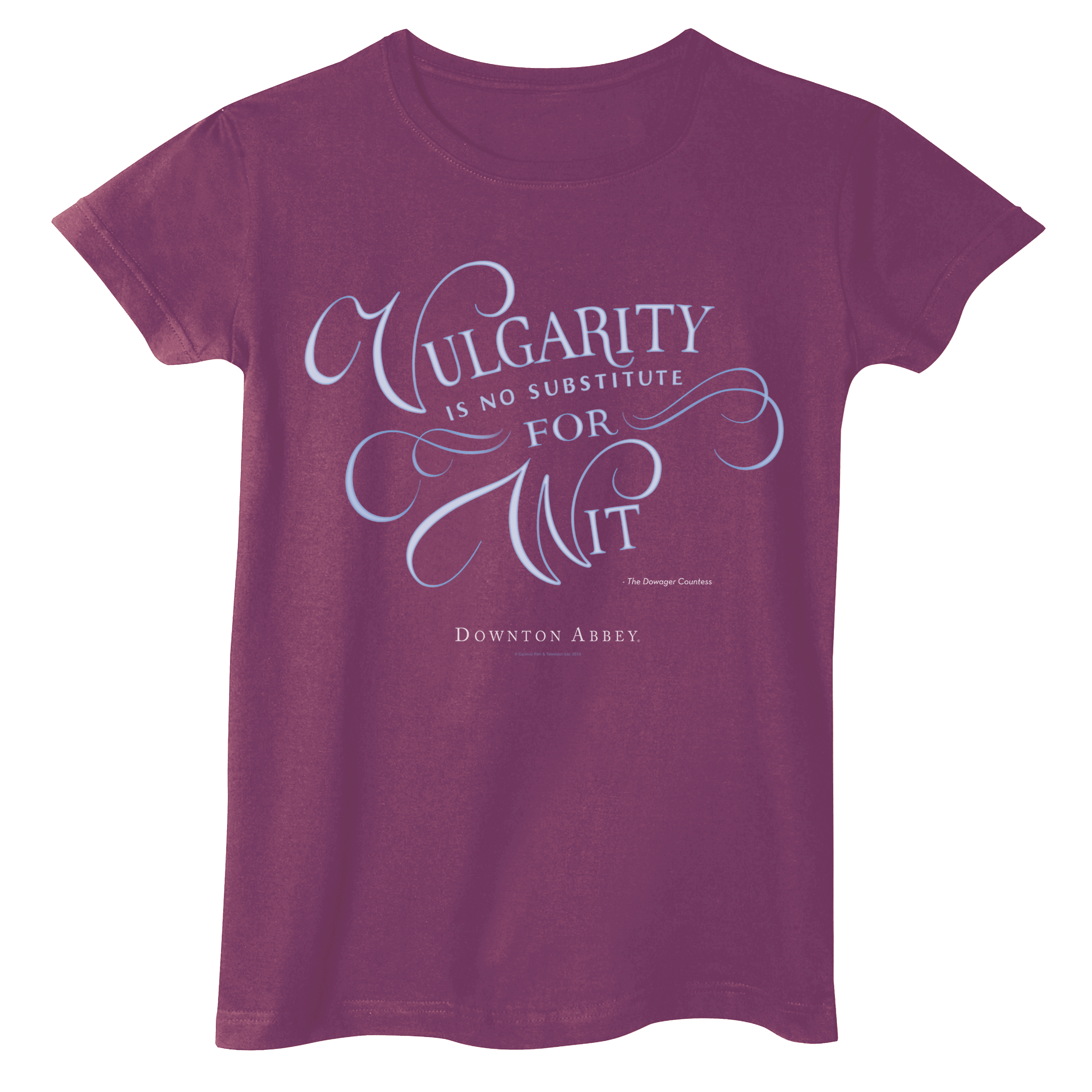 Women's Downton Abbey Vulgarity Is No Substitute T-Shirt - Long Or Short Sleeves