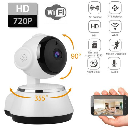 Camera PTZ Wi-Fi IP Indoor Home Security Surveillance System 720p HD Night Vision, Motion Detection, Remote Pet Monitor with Phone APP Control