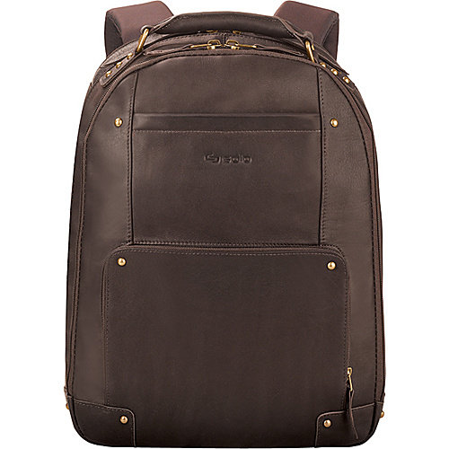 "SOLO Premium Leather 15.6"" Laptop Backpack - Walmart.com"