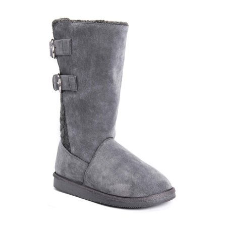 Muk Luks Womens Jean Faux Fur Lined Buckle Boot