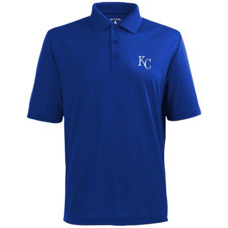 Antigua Baseball Polo Shirt (Kansas City Royals Antigua Desert Dry Xtra-Lite Polo - Royal)