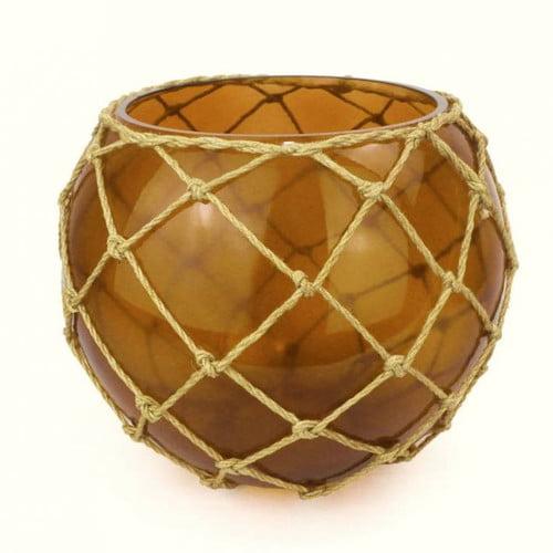 Handcrafted Nautical Decor Japanese Glass Fishing Float Decorative Bowl by Handcrafted Nautical Decor