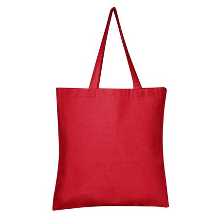 Promotional Gift Bags - Heavy Duty Promotional Canvas Tote Bags Bulk | TB200 - Set of 12, Red