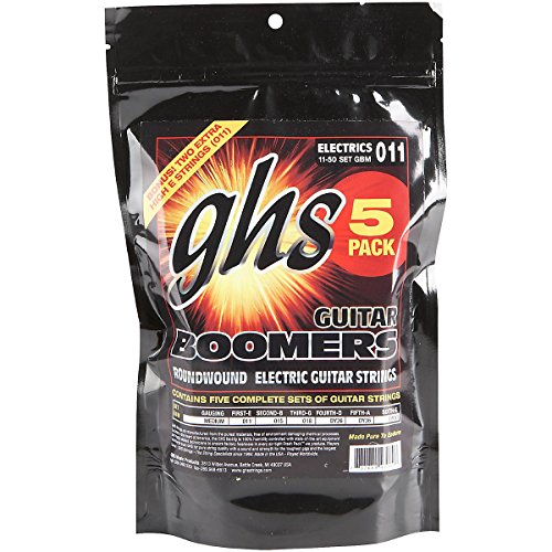 GHS Electric Guitar Boomers Medium String 5 Pack