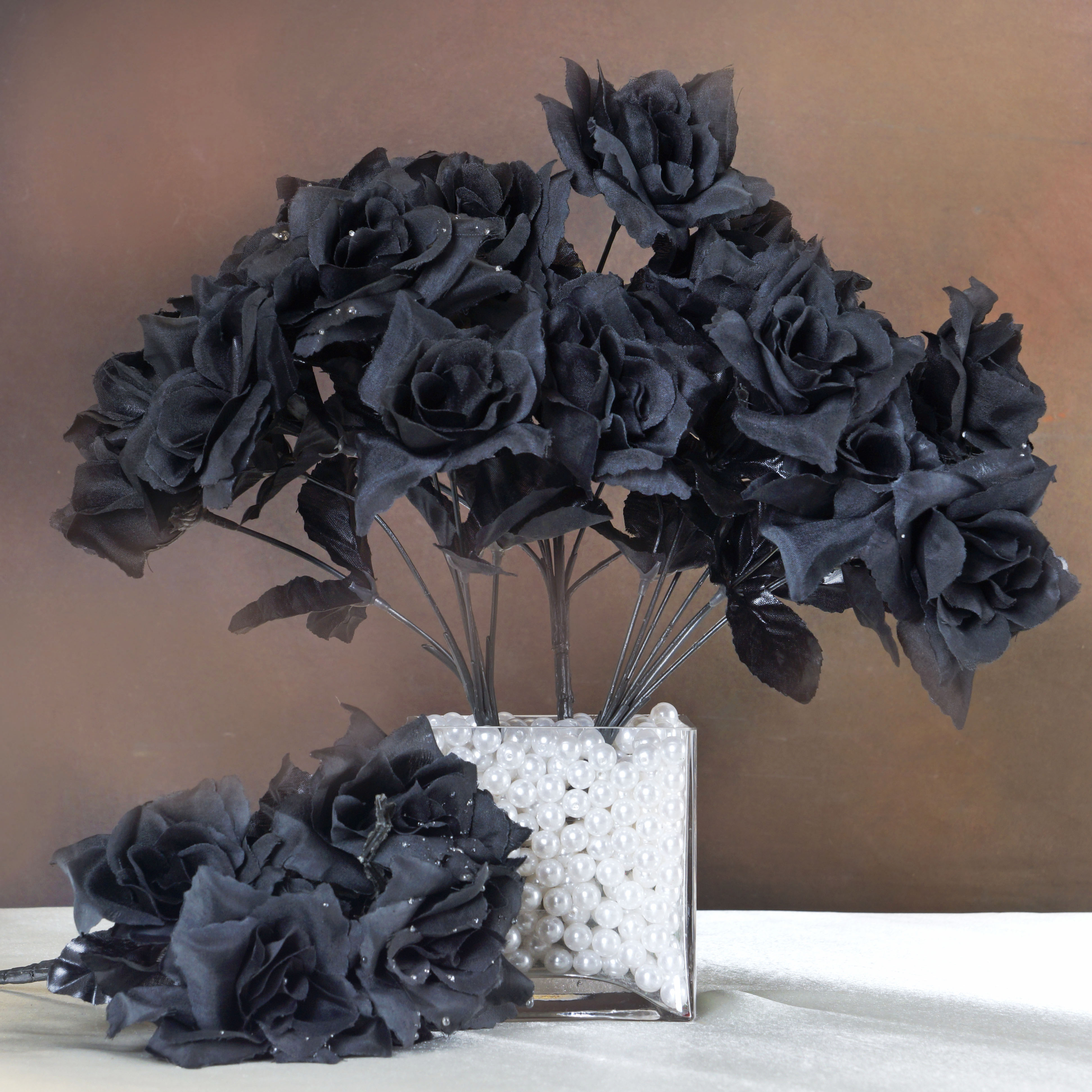 Efavormart 84 Artificial Open Roses for DIY Wedding Bouquets Centerpieces Arrangements Party Home Decorations Wholesale Supplies