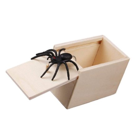 The Original Spider Prank Box-Hilarious Wooden Box Toy Prank, Funny Money Gift Box Surprise Toy, and Christmas Gag Gift Prank for Boys, Girls, Adults