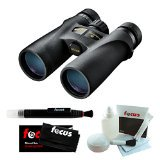 Nikon 7541 Monarch 3 - 10x42 Binocular (Black) Bundle with Focus Micro-Fiber Cloth. Lens Pen and 5pc Deluxe Cleaning Set