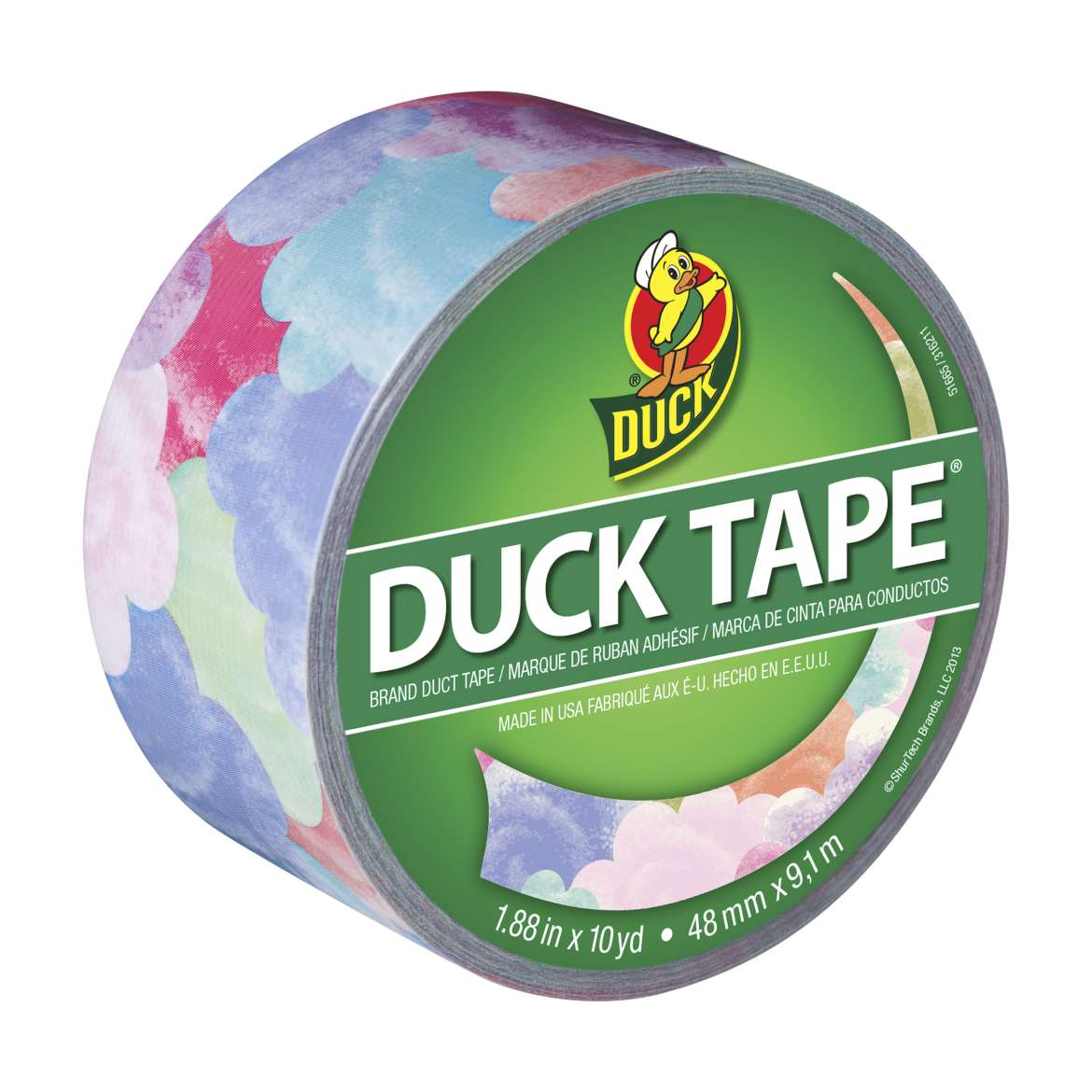 Printed Duck Tape Brand Duct Tape - Cotton Candy, 1.88 in. x 10 yd.