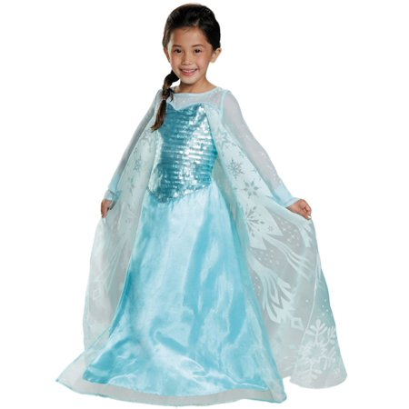 Disney Princesses Halloween Diy (Disney Girls Blue Frozen Princess Elsa Glitter Sequin Halloween Dress Costume)