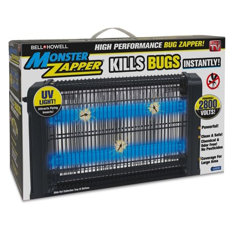 Monster Zapper by Bell + Howell, Powerful Indoor Electric Bug and Fly