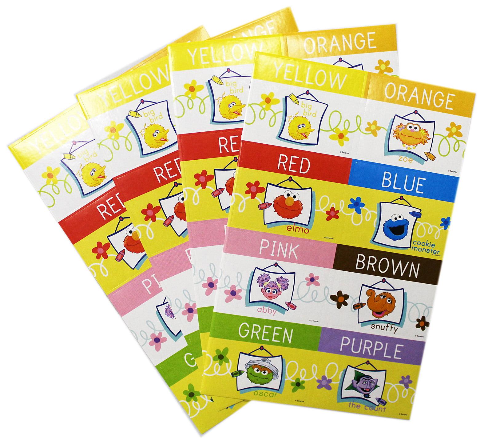 Sesame street colors of a rainbow educational stickers 8 stickers walmart com