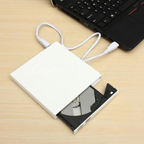 Obstce USB 2.0 DVD Combo DVD-ROM CD-ROM Disk Drive CD Burner Recorder for Laptop PC