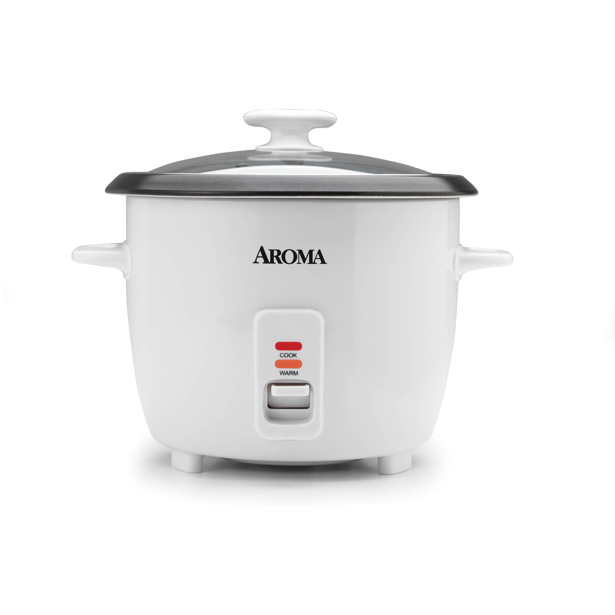 Aroma 14 Cup Non-Stick & Dishwasher Safe White Rice Cooker, 4 Piece