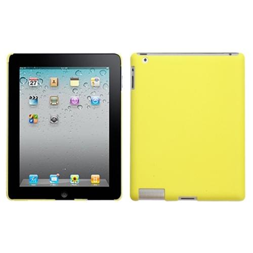 insten yellow smartslim back case (rubberized) for apple: ipad 2, the new ipad, ipad 4 (with retina display)