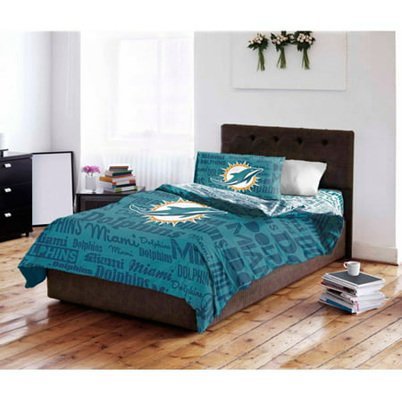 NFL Miami Dolphins Bed in a Bag Complete Bedding Set by