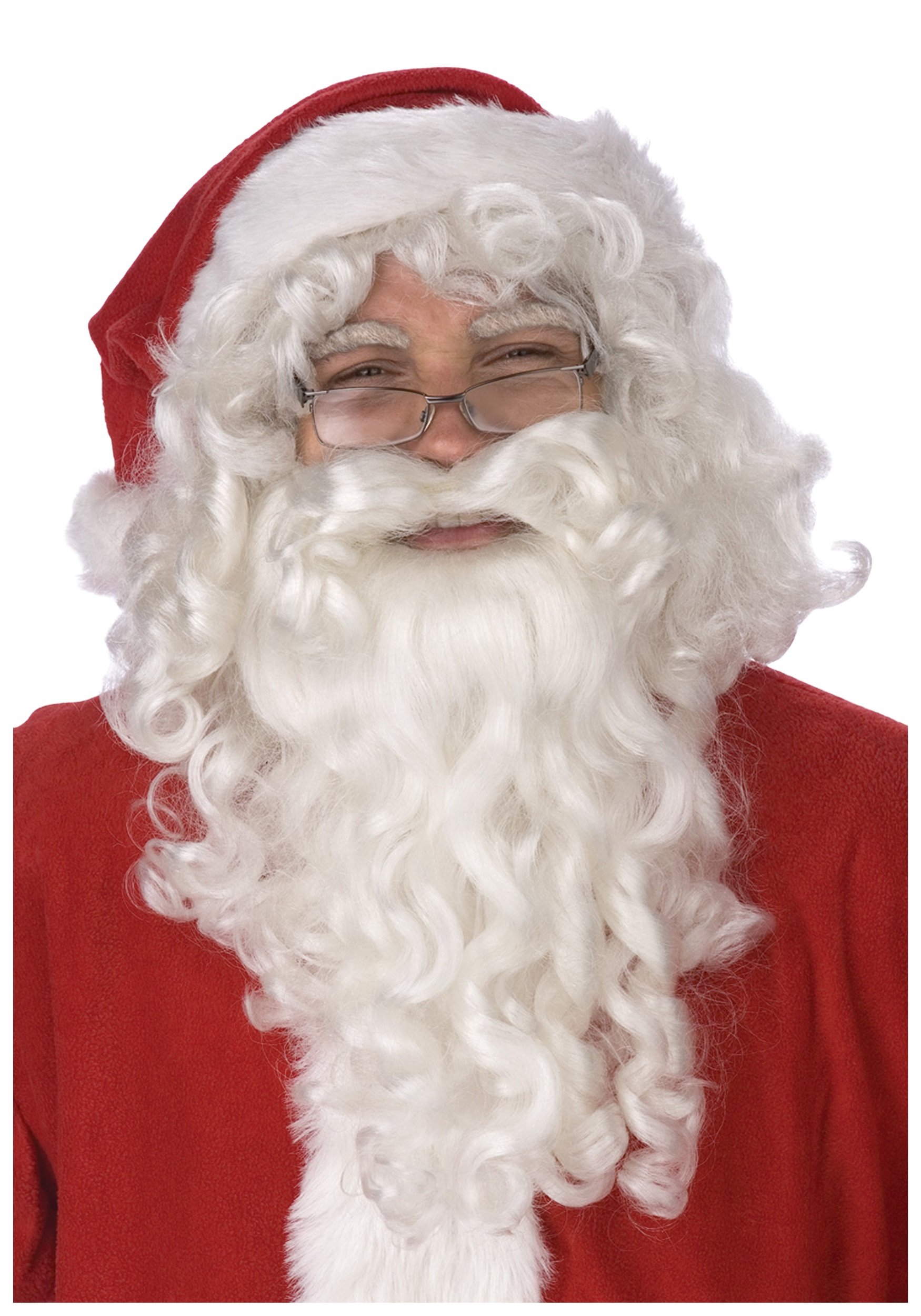 California Costumes Mens Santa Claus Beard and Wig Set