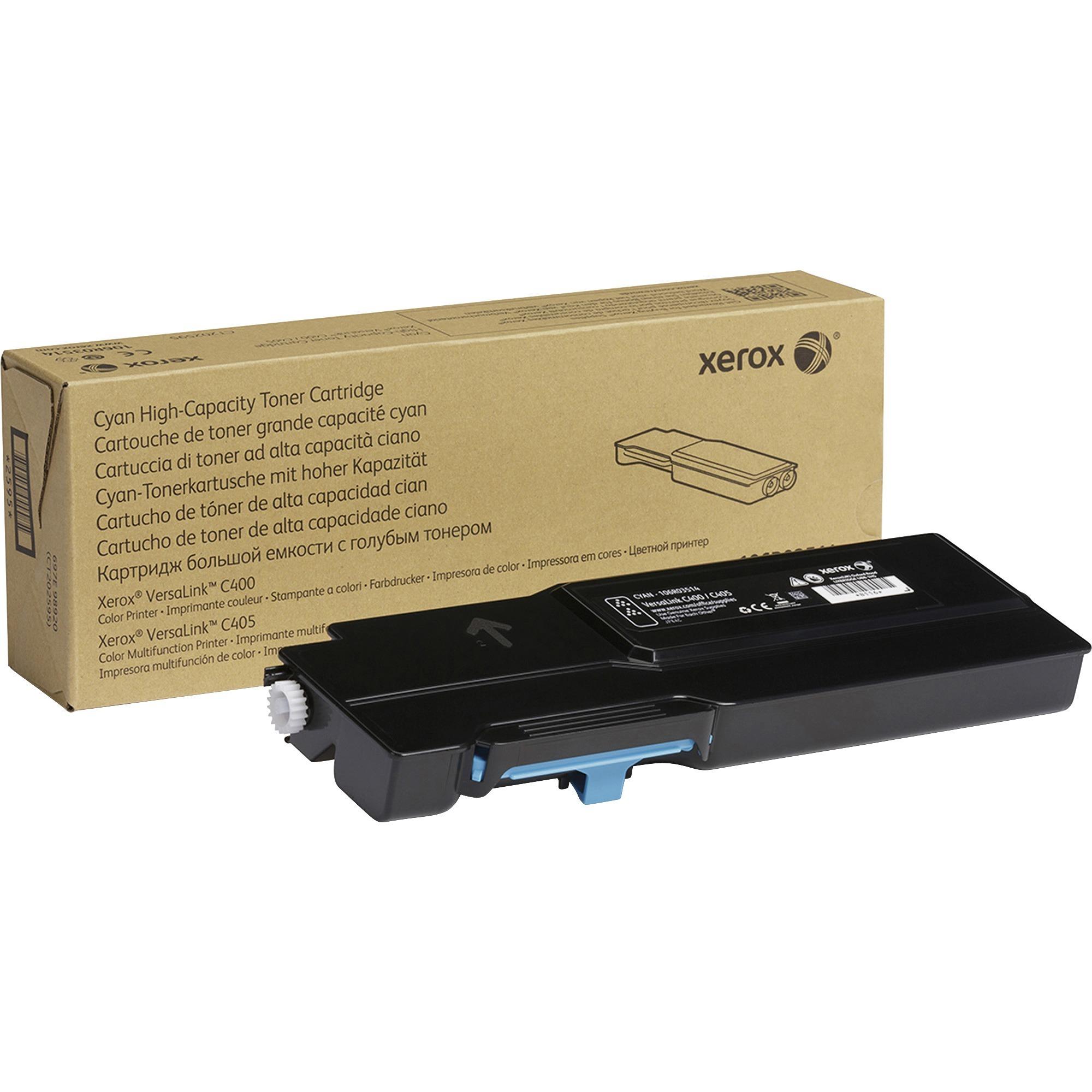 Xerox, XER106R03514, Genuine Cyan High Capacity Toner Cartridge For The VersaLink C400/C405, 1 Each