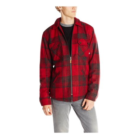 Quiksilver Mens Otama Shirt Jacket, Red, Medium