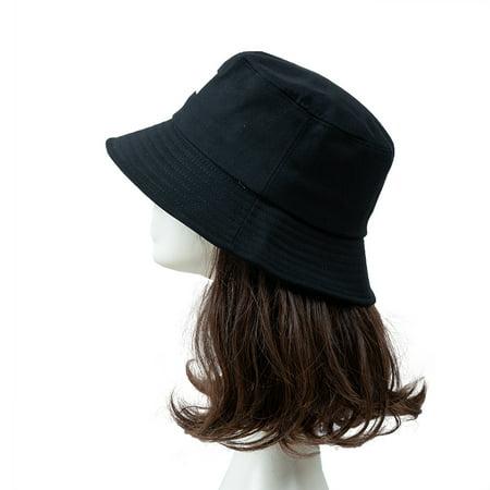 Women Hat Fisherman Hat Smiley Face Sunbonnet Bucket Hat Hip Casual Fedoras Outdoor Beach Cap - image 3 de 7