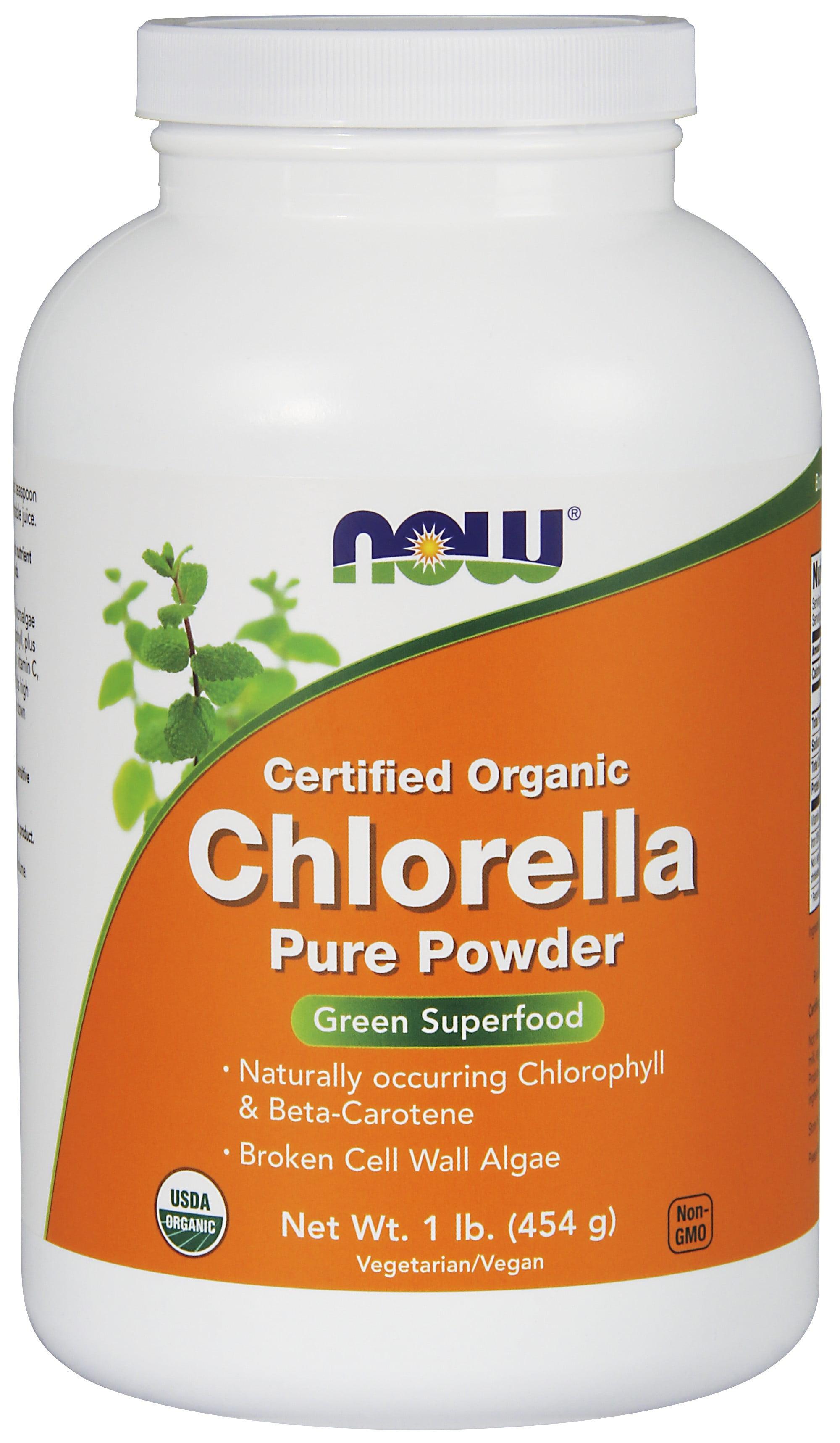 Now Foods Organic Chlorella Powder, 1.0 Lb