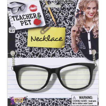 Teacher's Pet Glasses With Chain Costume Necklace One Size - image 1 de 1