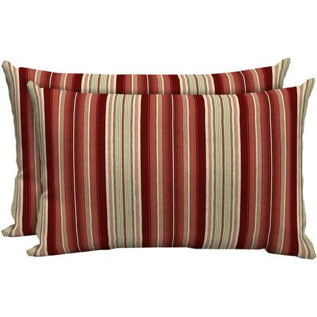 - Better Homes and Gardens Outdoor Patio Lumbar Toss Pillow, Set of Two