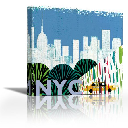 New York City Life Nyc Contemporary Fine Art Giclee On Canvas Gallery Wrap Wall Décor Painting 27 X Inch Ready To Hang