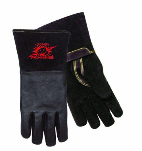 Steiner Industries P760L Pro Series Large Mig Welding Gloves With Cuff