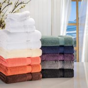 Superior Collection Super Soft & Absorbent Zero Twist 6-piece Cotton Towel Set Brick