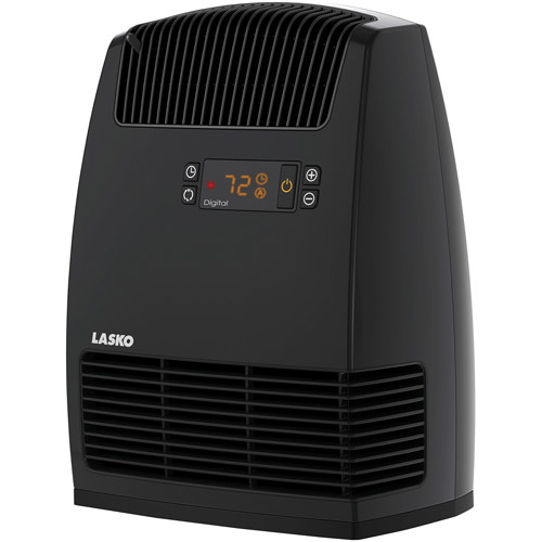 Lasko Electric Digital Ceramic Heater with Warm Air Motion Technology, Black,  CC13652