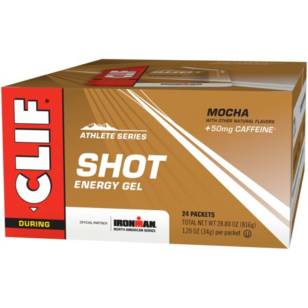 Clif Shot Energy Gel, Mocha, 1.2 Fl Oz, 24 (Clif Shot Bloks Margarita)