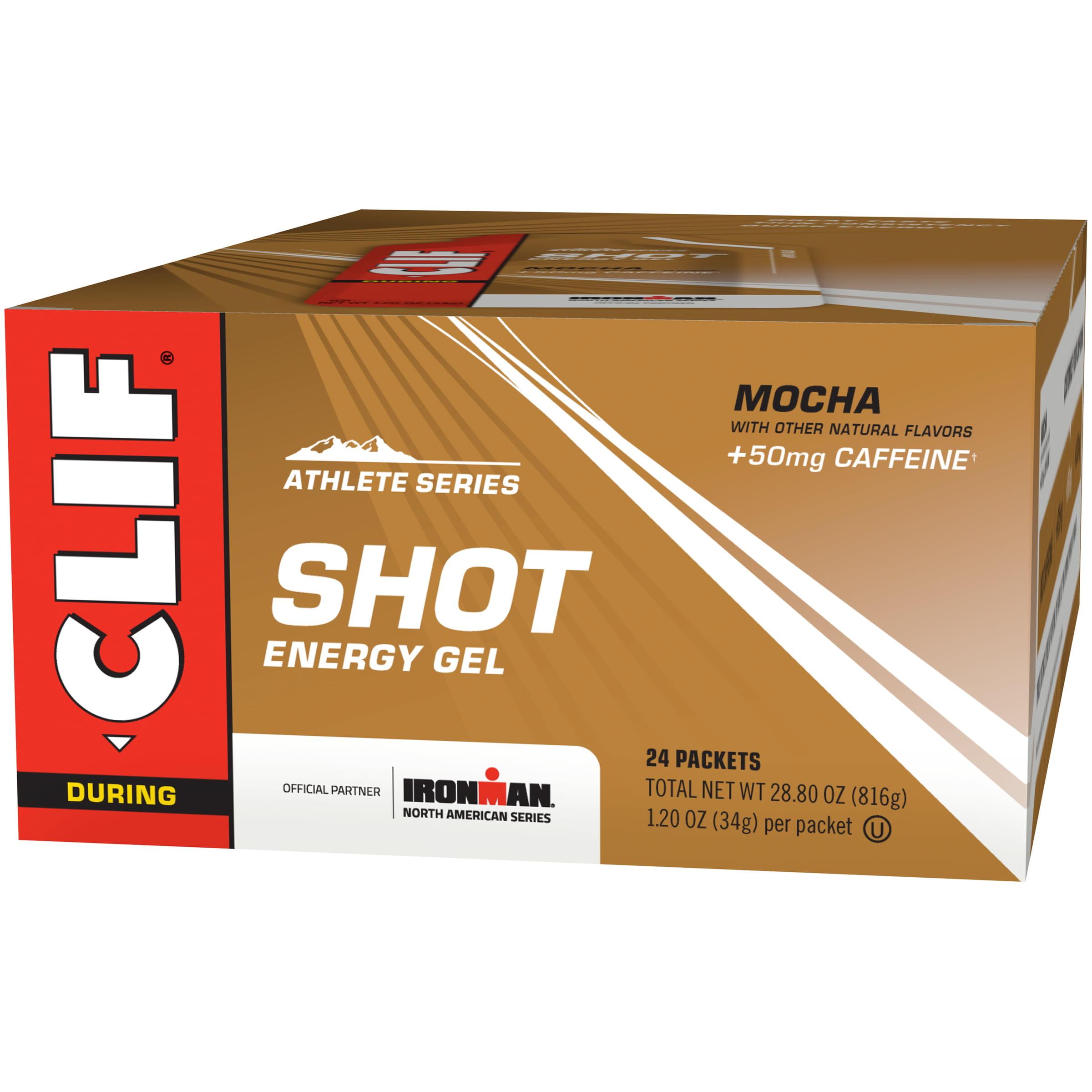 Clif Shot Energy Gel, Mocha, 1.2 Fl Oz, 24 Ct